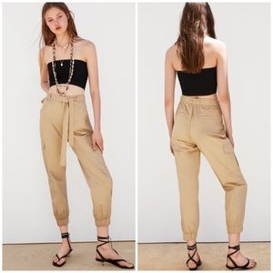 NWT Zara Cargo Pants with Belt